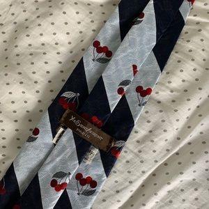 Yves saint Laurent blue cherry tie